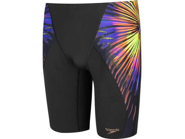 speedo Placement Digital V-Cut Jammer Homme, explosion black/fluo yellow